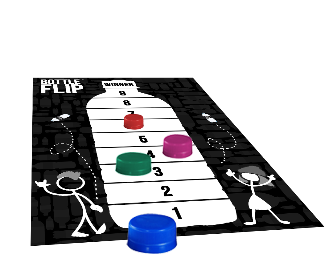 Bottle Flip Board Game - Move Along The Board